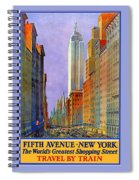 Fifth Avenue  New York Travel Poster Spiral Notebook