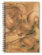 Fight Between A Dragon And A Lion Spiral Notebook