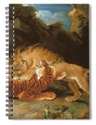 Fight Between A Lion And A Tiger, 1797 Spiral Notebook