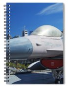 Fighting Falcon At Interpid Museum Spiral Notebook