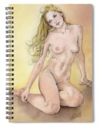 Figure Study In Watercolour Spiral Notebook