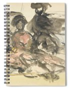 Figure Study Two Women Seated Spiral Notebook