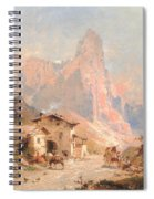 Figures In A Village In The Dolomites Spiral Notebook