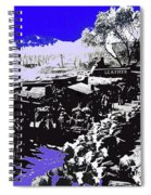 Film Homage Arizona 1940 Publicity Photo Cattle Drive Main Street Old Tucson 1940-2008 Color Added Spiral Notebook
