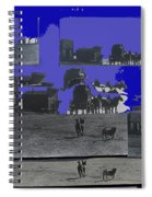 Film Homage Dirty Dingus Magee Collage Number 1 1970-2012 Mescal Arizona Spiral Notebook