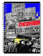 Film Homage Embassy Newsreel Theater 1940 Times Square New York City 2008 Spiral Notebook