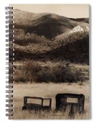 Film Homage End Of The Road 1970 Bisected Car Ghost Town Dos Cabezos Arizona 1967-2008 Spiral Notebook