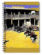 Film Homage Extras Unknown Production Old Tucson Arizona Color Added Spiral Notebook