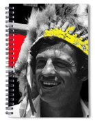 Film Homage Jean-paul Belmondo  Fake Indian Bonnet Love Is A Funny Thing  Old Tucson Az 1969-2008 Spiral Notebook