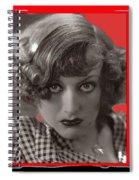 Film Homage Joan Crawford Louis Milestone Rain 1932 Collage Color Added 2010 Spiral Notebook