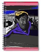 Film Homage Julian Rivero Burn 'em Up Barns 1934 Mascot Serial Collage Screen Capture 2008 Spiral Notebook