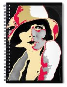 Film Homage Louise Brooks In Flapper Hat 1927-2013 Spiral Notebook