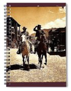 Film Homage Mark Slade Cameron Mitchell Riding Horses The High Chaparral Old Tucson Arizona Spiral Notebook