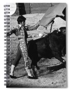 Film Homage Rudolph Valentino Blood And Sand 1922 Bullfight Nogales Sonora Mexico 1978 Spiral Notebook
