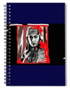 Film Homage Rudolph Valentino The Shiek 1921 Collage Color Added 2008 Spiral Notebook