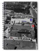 Film Homage Ted Degrazia Cine Plaza Theater  Blue W. Congress Tucson Arizona 1936-2008 Spiral Notebook