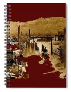 Film Homage The High Chaparral Set Collage Old Tucson Arizona C.1967-2013 Spiral Notebook