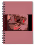 Film Homage William S. Hart Hell's Hinges Collage  1916-2012  Spiral Notebook