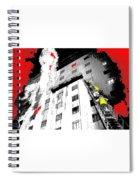 Film Noir Act Of Violence 1949 Pioneer Hotel Fire 1970 Jack Schaeffer Photo Color Added 2012 Spiral Notebook