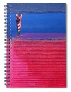 Film Noir  Angela Lansbury The Manchurian Candidate 1962 Flag Water Reflection Casa Grande Az 2005 Spiral Notebook
