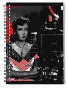 Film Noir Director Ida Lupino Color Added 2012 Spiral Notebook
