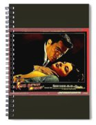 Film Noir Gerd Oswald Robert Wagner A Kiss Before Dying 1956 Poster Color Toning Added 2008 Spiral Notebook