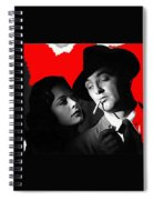 Film Noir Jane Greer Robert Mitchum Out Of The Past 1947 Rko Color Added 2012 Spiral Notebook