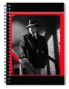 Film Noir John Huston Humphrey Bogart The Maltese Falcon 1941 Color Added 2012 Spiral Notebook