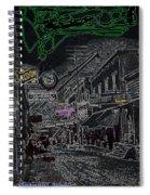 Film Noir Lee Marvin Sylvia Sidney Violent Saturday 1956  C.1885 Bisbee Az Drawing Color Added 2008 Spiral Notebook