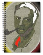Film Noir Mystery Writer Raymond Chandler Vignetted Texture Color Added 2013 Spiral Notebook