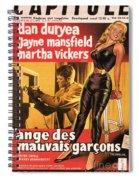 Film Noir Poster  The Burglar Jane Mansfield Spiral Notebook