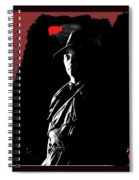 Film Noir Robert Mitchum In Trench Coat At Rko Radio 1 C.1947 Color Added 2013 Spiral Notebook