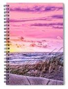Filtered Beach Spiral Notebook