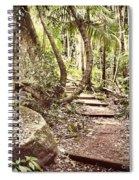 Filtered Forest Spiral Notebook