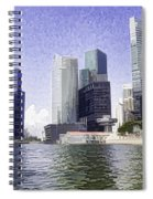 Financial District Of Singapore And View Of The Water Spiral Notebook
