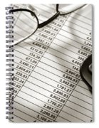 Financial Spreadsheet With Calculator And Glasses Spiral Notebook