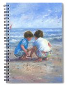 Finding Sea Shells Brother And Sister Spiral Notebook