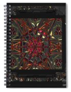 Finding The Light Mandala Spiral Notebook