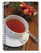 Fine Tea And Cherries Spiral Notebook