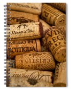 Fine Wine Corks Spiral Notebook
