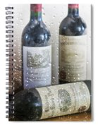 Fine Wine On A Rainy Afternoon Spiral Notebook