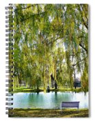 Finger Lakes Weeping Willows Spiral Notebook