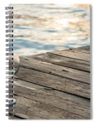 Finger Lakes Wine Tasting - Wine Glass On The Dock Spiral Notebook
