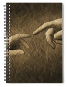Fingers Almost Touching Spiral Notebook