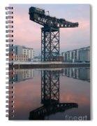 Finnieston Crane Reflections Spiral Notebook