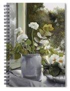 Fiori Bianchi Alla Finestra Spiral Notebook