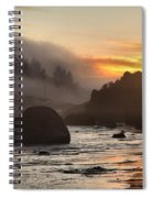Fire And Fog At Trinidad Spiral Notebook