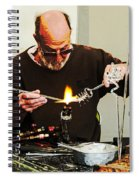Fire And Glass Spiral Notebook