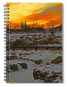 Fire And Ice Spiral Notebook
