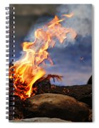 Fire And Smoke Spiral Notebook